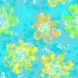 Teste padrão sem emenda abstrato com flores e destaques claros ilustração royalty free
