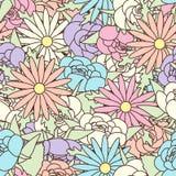 Teste padrão sem emenda abstrato com fundo floral Imagens de Stock