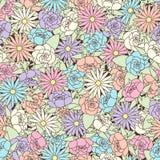 Teste padrão sem emenda abstrato com fundo floral Foto de Stock Royalty Free
