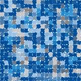Teste padrão sem emenda abstrato com polígono com bordas irregulares ásperas Imagem de Stock