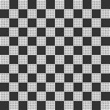 Teste padrão sem emenda abstrato com quadrados grandes e pequenos ilustração stock
