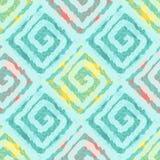Teste padrão sem emenda abstrato com quadrados no estilo étnico Fotografia de Stock Royalty Free