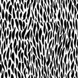 Teste padrão sem emenda abstrato da tinta Fundo com cursos artísticos no estilo esboçado preto e branco Elemento do projeto para ilustração do vetor