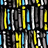 Teste padrão sem emenda abstrato da tinta Fundo com tiras artísticas a ilustração stock