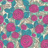Teste padrão sem emenda abstrato das rosas Imagens de Stock