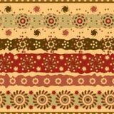 Teste padrão sem emenda abstrato de elementos florais marrons Fotografia de Stock Royalty Free