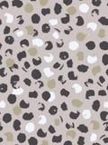 Teste padrão sem emenda abstrato de pontos do leopardo em cinzento, em bege, o branco e o rosa Tinta e escova Mão desenhada ilustração stock