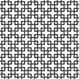 Teste padrão sem emenda abstrato de quadrados de cruzamento tirados mão Fundo monocrom?tico do vetor ilustração stock
