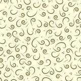 Teste padrão sem emenda abstrato de Swirly com detalhes islâmicos árabes da caligrafia Cópia para a matéria têxtil e o papel Ilus ilustração royalty free