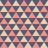 Teste padrão sem emenda abstrato de triângulos da cor Textura elegante à moda moderna foto de stock