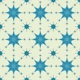 Teste padrão sem emenda abstrato do cinza do floco de neve Imagens de Stock