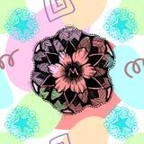 Teste padrão sem emenda abstrato do doodle Imagem de Stock Royalty Free