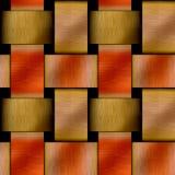 Teste padrão sem emenda abstrato do metal com ouro escovado e as placas de cobre vermelhas Imagem de Stock