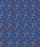 Teste padrão sem emenda abstrato do vetor com o azul estrela-como formas e algum isqueiro azul e cor-de-rosa no fundo ilustração stock
