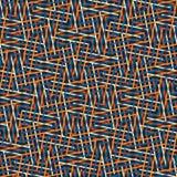 Teste padrão sem emenda abstrato do vetor de cruzar o orname diagonal Fotografia de Stock