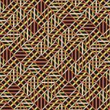 Teste padrão sem emenda abstrato do vetor de cruzar o orname diagonal Imagem de Stock Royalty Free