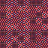 Teste padrão sem emenda abstrato do vetor de cruzar ornamento diagonais Imagem de Stock Royalty Free