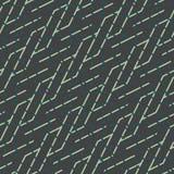 Teste padrão sem emenda abstrato do vetor de cruzar ornamento diagonais Foto de Stock Royalty Free