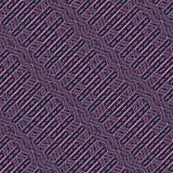 Teste padrão sem emenda abstrato do vetor de cruzar ornamento diagonais Fotos de Stock Royalty Free