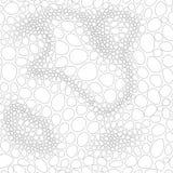 Teste padrão sem emenda abstrato do vetor isolado do fundo bolhas Fotos de Stock