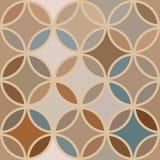 Teste padrão sem emenda abstrato do vintage com círculos Imagem de Stock Royalty Free