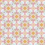 Teste padrão sem emenda abstrato do vintage, projeto de matéria têxtil fotografia de stock