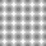 Teste padrão sem emenda abstrato dos círculos Imagem de Stock