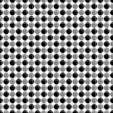 Teste padrão sem emenda abstrato dos círculos alternativos, cruzados pela grade das linhas Textura geométrica branca preta simple Foto de Stock Royalty Free