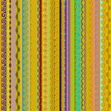 Teste padrão sem emenda abstrato em um fundo amarelo Fotos de Stock