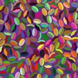 Teste padrão sem emenda abstrato feito de artigos coloridos oval Imagens de Stock Royalty Free