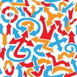 Teste padrão sem emenda abstrato feito de setas coloridas do vário sha Foto de Stock Royalty Free