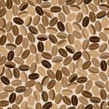 Teste padrão sem emenda abstrato feito dos feijões de café Fotos de Stock Royalty Free