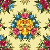Teste padrão sem emenda abstrato floral do boho ou da hippie Imagens de Stock Royalty Free