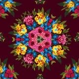 Teste padrão sem emenda abstrato floral do boho ou da hippie Foto de Stock Royalty Free