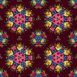 Teste padrão sem emenda abstrato floral do boho ou da hippie Fotos de Stock