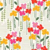 Teste padrão sem emenda abstrato floral Projeto do vetor para surfases diferentes Foto de Stock Royalty Free