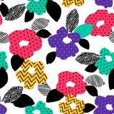 Teste padrão sem emenda abstrato floral Projeto do vetor para surfases diferentes Imagem de Stock Royalty Free