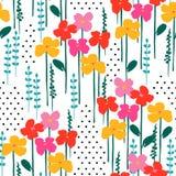 Teste padrão sem emenda abstrato floral Projeto do vetor para surfases diferentes Foto de Stock