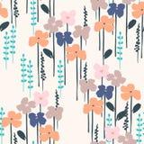Teste padrão sem emenda abstrato floral Projeto do vetor para surfases diferentes Fotos de Stock