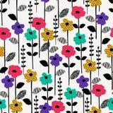 Teste padrão sem emenda abstrato floral Projeto do vetor para surfases diferentes Fotografia de Stock Royalty Free