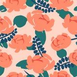 Teste padrão sem emenda abstrato floral Projeto do vetor para surfases diferentes imagem de stock