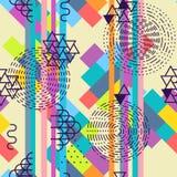 Teste padrão sem emenda abstrato geométrico Fundo do motivo do verão ilustração royalty free