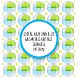 Teste padrão sem emenda abstrato geométrico verde, cinzento e azul ilustração royalty free
