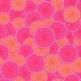 Teste padrão sem emenda abstrato A imagem de uma laranja do corte Foto de Stock