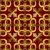 Teste padrão sem emenda abstrato no estilo oriental Imagens de Stock