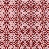 Teste padrão sem emenda abstrato no fundo vermelho Fotos de Stock Royalty Free