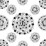 Teste padrão sem emenda abstrato preto e branco Imagens de Stock Royalty Free