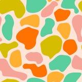 Teste padrão sem emenda abstrato redondo desarrumado colorido Fotos de Stock Royalty Free