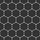 Teste padrão sem emenda abstrato Repetindo telhas geométricas com pontilhado Fotografia de Stock