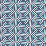 Teste padrão sem emenda abstrato textura à moda moderna Grade geométrica Repetindo telhas geométricas dos elementos listrados ilustração royalty free